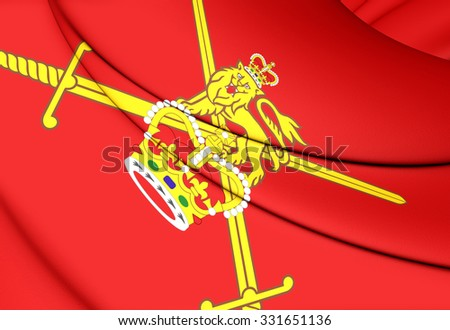 3D Flag of British Army. Close Up.   - stock photo