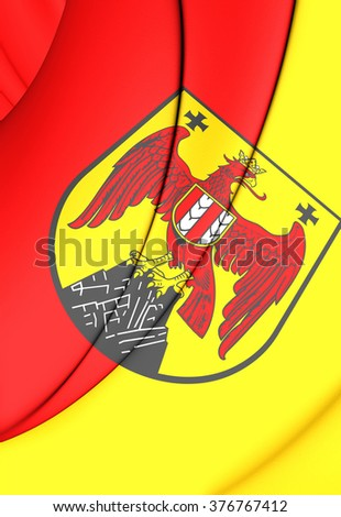 3D Flag of Burgenland, Austria. Close Up.    - stock photo