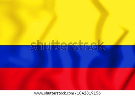 3D Flag of Colombia. 3D Illustration.