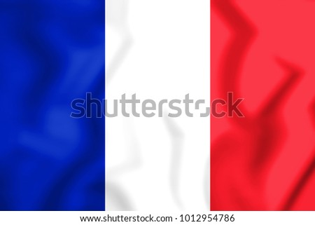 3D Flag of France. 3D Illustration.