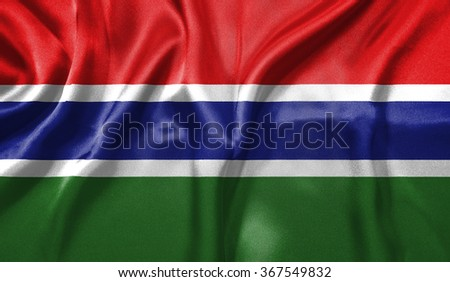 3D Flag of Gambia - stock photo