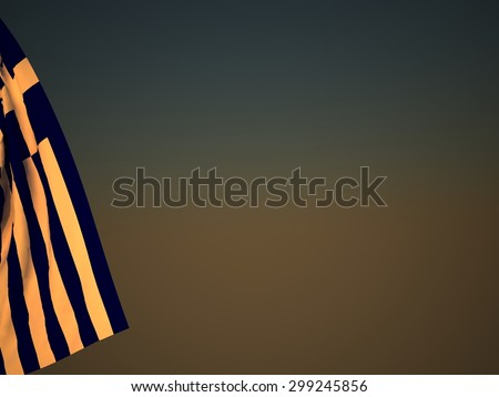 3D Flag of Greece - stock photo