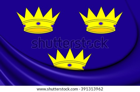 3D Flag of Munster Province, Ireland. Close Up.    - stock photo