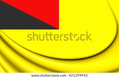 3D Flag of Negeri Sembilan, Malaysia. Close Up.    - stock photo