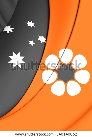 3D Flag of Northern Territory, Australia. Close Up. - stock photo