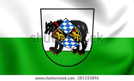 3D Flag of the Barnau, Germany. Close Up.    - stock photo