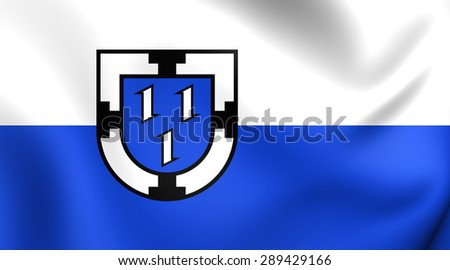 3D Flag of the Bottrop, Germany. Close Up.    - stock photo