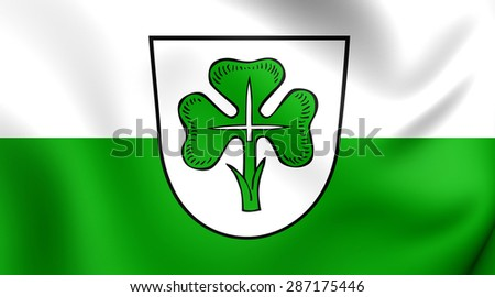3D Flag of the Furth, Germany. Close Up.    - stock photo