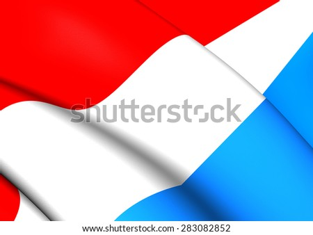 3D Flag of the Luxemburg. Close Up. - stock photo
