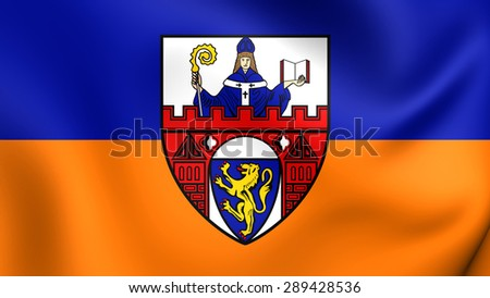 3D Flag of the Siegen, Germany. Close Up.    - stock photo