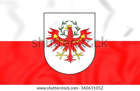 3D Flag of Tyrol, Austria. Close Up.    - stock photo