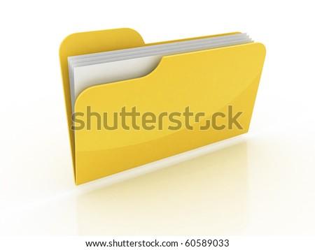 3d folder icon - stock photo
