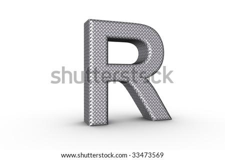 R Alphabet In Diamond 3D Font Alphabet Letter P in diamond metal tread plate texture on ...