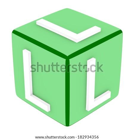 3d Font Cube Letter L - stock photo