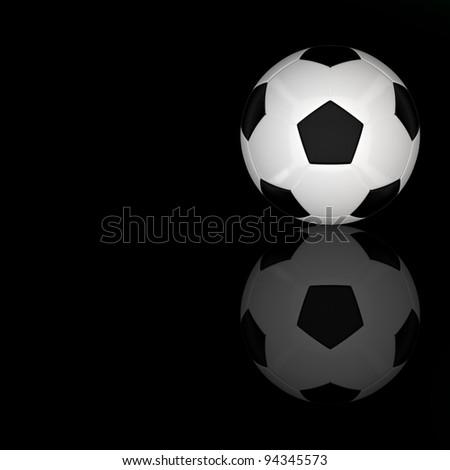 3d football - stock photo
