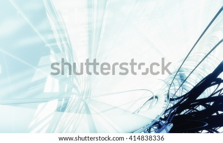 3d futuristic abstract background - stock photo