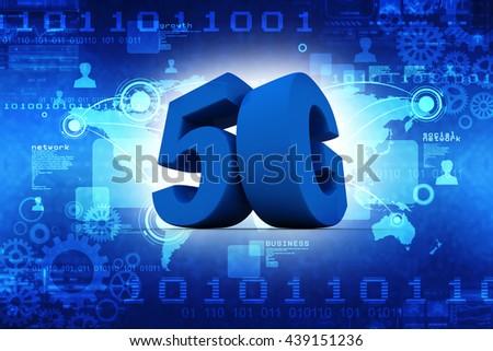 3D 5G - stock photo