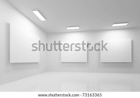 3d Gallery - stock photo