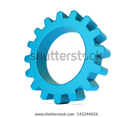 3D gear in white background