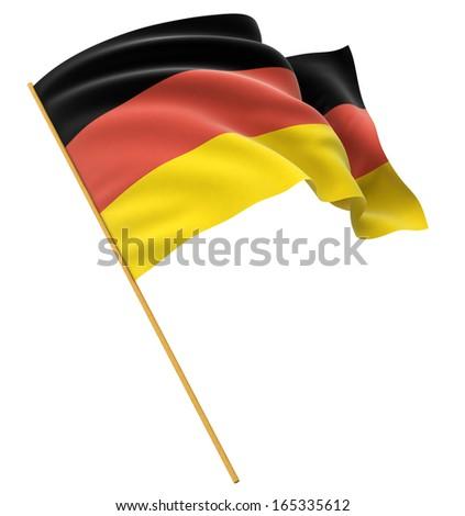 3D German flag - stock photo