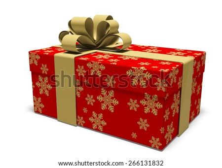 3D. Gift, Christmas, Christmas Present. - stock photo