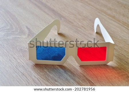 3D glass glasses - stock photo