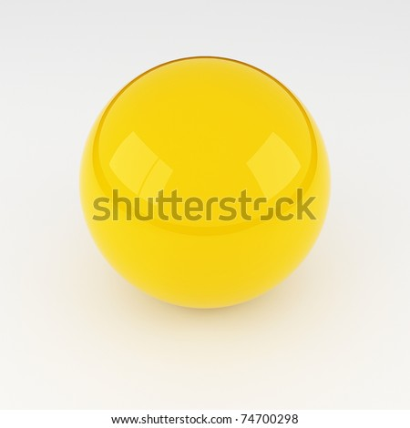 3D glass sphere - stock photo