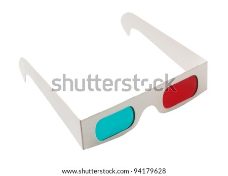 3d glasses isolated on a white background. - stock photo