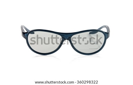 3d glasses isolated on white - stock photo