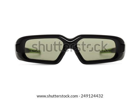 3d glasses isolated on white background. - stock photo