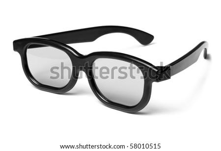 3D glasses modern cinema vision - stock photo