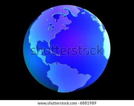 3d globe - stock photo
