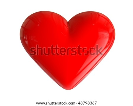 3D glossy heart - stock photo