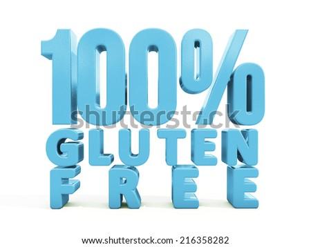 3d Gluten Free - stock photo
