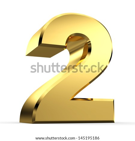 3D Golden Number Collection 2 - stock photo