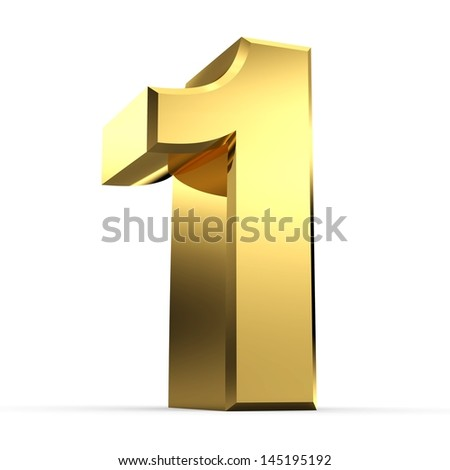3D Golden Number Collection 1 - stock photo