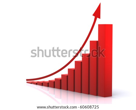 3d graph - stock photo