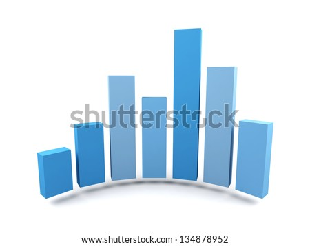 3d graph isolated on white