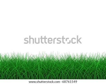 3D Grass - stock photo
