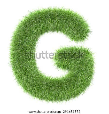 "3d ""Grass"" creative decorative letter G"