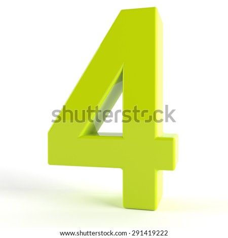 3d Green number  - 4
