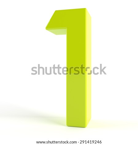 3d Green number  -1