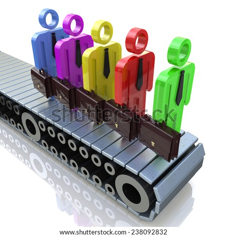 3D Group of people - Different professionals for business  - stock photo