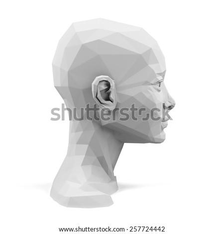 3d head - stock photo