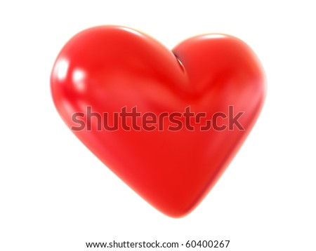 3D heart - stock photo