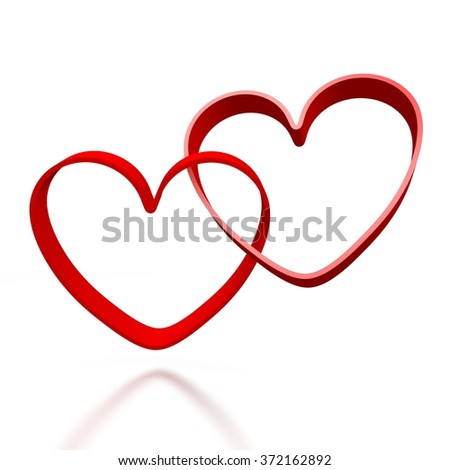 3D hearts - great for topics like Valentine's Day, love, feelings, emotions.