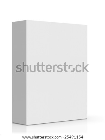 3d high quality rendered blank software box - stock photo