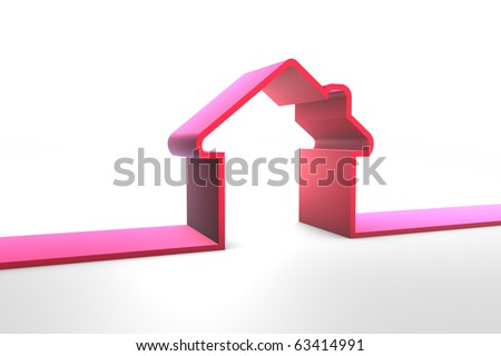 3D Home Insurance - stock photo