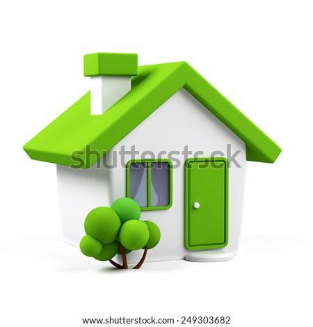 3d house - stock photo