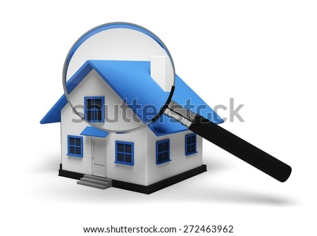 3D. House, Residential Structure, Quality Control. - stock photo